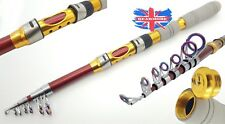 270 cm SUPER STRONG SUPER LIGHT SUPERIOR TELESCOPIC FISHING ROD TRAVEL ROD BEACH