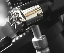 99-17 Hayabusa Chrome 3D Hex Engraved Ball Cut Brake/Clutch Line Banjo Bolt Caps