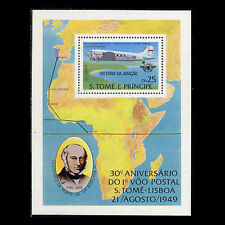 St Thomas & Prince Is, Sc #518, Mnh, 1979, S/S, Aviation, Sir Rowland Hill