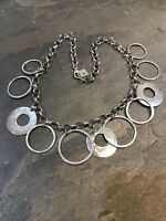 Silpada Sterling Silver Hammered Discs Necklace N1325