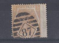 GB QV 1872 6d Pale Buff SG123 VFU J8490
