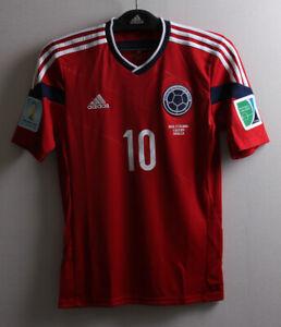 14-15 COLOMBIA Away S/S No.10 JAMES 2014 Brazil WorldCup Brazil Match Ver Trikot