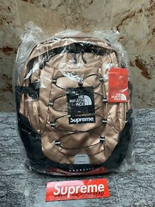 Supreme x North Face SS18 Metallic Rose Gold Backpack Borealis BRAND NEW