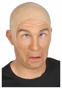 Latex Bald Cap Flesh Skin Adult Rubber Bald Head Wig Cap Skinhead Prank Costume