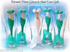 Mermaid Bride Pilsner Glasses Unique Gift Beach Wedding Nautical Mythical