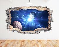 Q255w Space Earth Cool Bedroom Kids Window Wall Decal 3D Art Stickers Vinyl Room