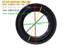 "1pcs 4.5""inch Anti-side/K6/WL106A Speaker Surround rubber Edge Audio repair Part"