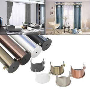 28mm Chrome Curtain Pole Rod Brackets Wall mounted Bracket Curtain Rail Support