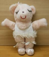 Ms Noah Plush Bear Pink With White Dress Ballerina Sleeping Vintage