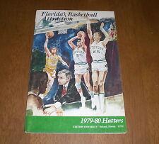 1979-80 STETSON UNIVERSITY HATTERS BASKETBALL MEDIA GUIDE