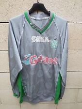 VINTAGE Maillot AS SAINT-ETIENNE Asics away shirt SEGA ancien gris les Verts XL
