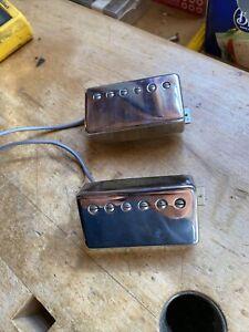 Pair Of Vintage 1981 Gibson Tim Shaw PAF Humbucker Guitar Pickups