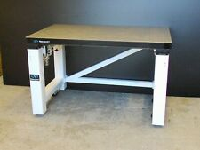 tested NEWPORT 4' OPTICAL BREADBOARD TABLE, PNEUMATIC ISOLATION BENCH