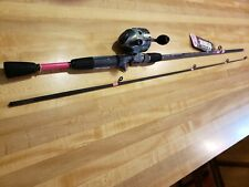 PINK  CAMO ZEBCO 33 ROD AND REEL FISHING COMBO