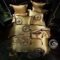 King Size Luxury Wedding Bedding Set Satin Egyptian Duvet Cover Bed Pillowcase