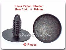 "40 Pc Facia Panel Retainer Christmas Tree 1/4"" (6.4mm) Hole For Chrysler 6501067"
