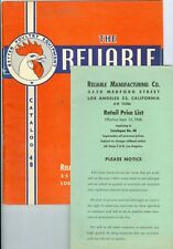 Sept 15, 1948 Reliable Poultry Equipment Catalog, 33 Pages, w/Price List