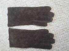 Women's Brown Suede Gloves Size M/L