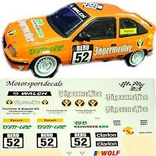 Opel Kadett GSi JÄGERMEISTER DTM 1992 #52 Porsch 1:43 Decal Abziehbilder