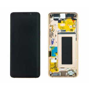 LCD S9 G960F ECRAN LCD VITRE TACTILE SAMSUNG GALAXY AVEC CHASSIS OR