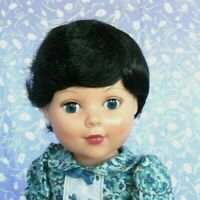 Playhouse BOB Black Full Cap Doll Wig Size 12-13 Baby, Boy or Girl, Short Bob