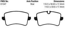 EBC Redstuff Sport Brake Pad Set for 11-20 A6 / A8 Quattro / 13-20 S7 / 12-20 S8