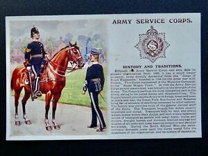 History & Tradition THE ARMY SERVICE CORPS Postcard by Gale & Polden No.108