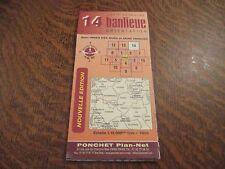 carte routiere ponchet nouvelle edition carte detaillee 14 banlieue paris