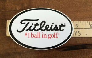 """BRAND NEW TITLEIST AUTHENTIC """"#1 BALL IN GOLF"""" DECAL OVAL STICKER,   Free ship."""