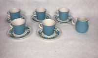 Mikasa Cera Stone Gigi 3175 Cup And Saucer Set Of 5 Plus Creamer Made In Japan