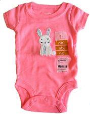 New Carter's Girls Bodysuit Newborn Pink Bunny
