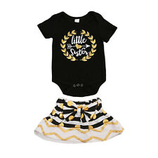 Kid Baby Girls Little Big Sister Matching Clothes Romper T-shirt Dress Outfit c
