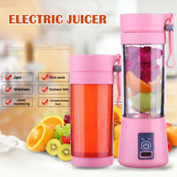 380ml Portable USB Juicer Cup Mixer Fruit Smoothie Maker Bottle Rechargeable