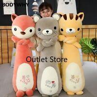 Soft Animal Long Pillow  Plush Toy Stuffed Cartoon Doll  Pillow Cushion Gift