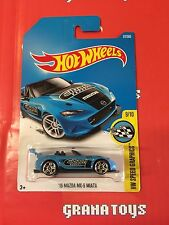 15 Mazda MX-5 Miata #177 Blue 2017 Hot Wheels Case H