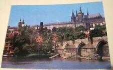 Czechoslovakia Prague Burg Hradcany mit Karlsbruche Press Foto - posted 1989