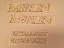 Close out Sale Merlin & extralight  Bike  Decals  White letters, black outline
