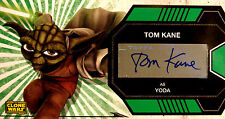 2009 Topps Star Wars The Clone Wars WideVision Autograph Tom Kane