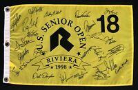 23 PGA Pros Signed Autographed 1998 US Open Pin Flag W/COA Nicklaus, Floyd, Aoki