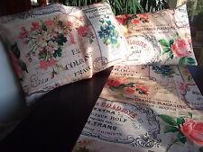 Kissenhülle Charleston ca.60x40 cm Rosen Landhaus Puder Seife Blüten Schrift