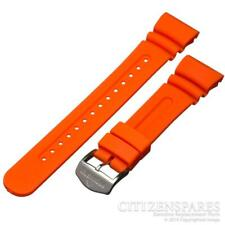 Citizen Watch Band Eco-Drive Aqualand JV0020-21F JV0030-19F Orange Rubber Strap