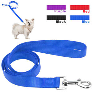 100pcs/lot Plain Nylon Pet Dog Leash for Dogs Small Medium Large Dogs Walking
