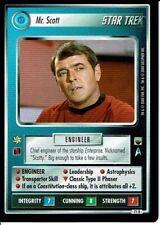 STAR TREK CCG TROUBLE WITH TRIBBLES RARE CARD MR. SCOTT