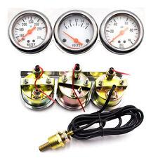 """Multifunctional Auto Meter 2"""" Voltmeter Water Temp Oil Pressure Triple Gauge Kit"""