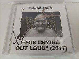 """KASABIAN """" FOR CRYING OUT LOUD"""" UK DOUBLE CD - FULLY AUTOGRAPHED BY ALL 4 MEMBER"""