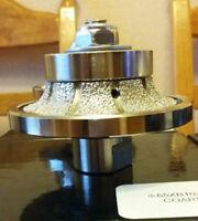 B15 15mm Half Bullnose / Eased Diamond Profile Router Bit Stone Granite Marble
