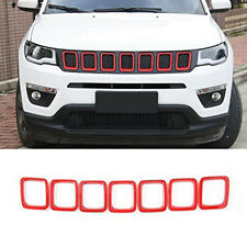 Red Front Grille Frame Grill Inserts Cover Decor Fit for 2017-2020 Jeep Compass