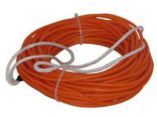 Fly High x Barefoot Nylon Coated Spectra Core Wakeboard Rope Sz 70ft Orange