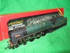 "Hornby OO gauge R630 BR 7F ""Britannia"" tender driven locomotive clean & boxed"