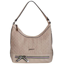 AB Collezioni Ladies PU Leather Borsa Lily Cipria Designer Handbag - Powder Pink